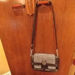 Black and grey purse